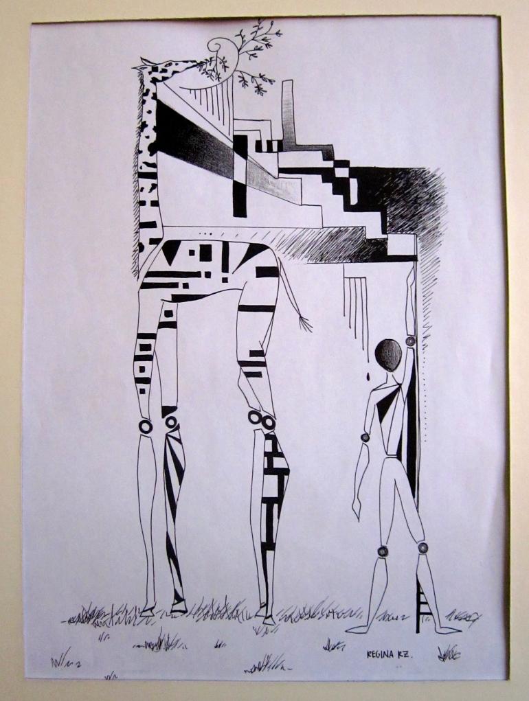 Giraffe Art Deco